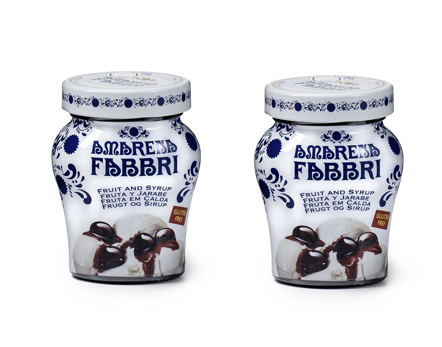 Fabbri Amarena Cherries In Syrup, 8.1 Ounce (Pack of 2)
