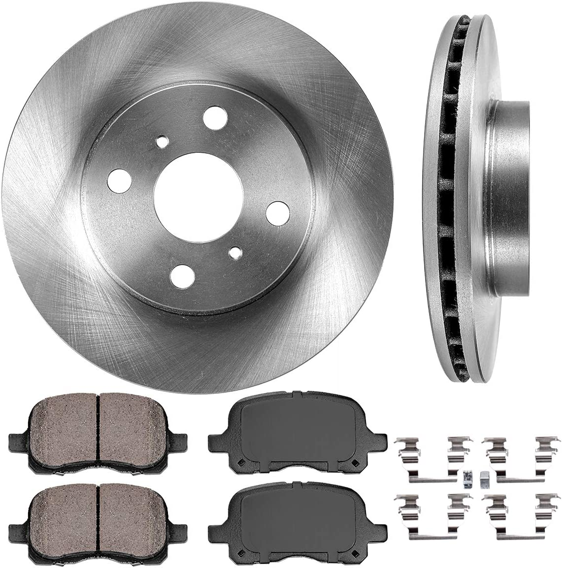 2013 Fit Toyota Corolla OE Replacement Rotors w//Metallic Pads F