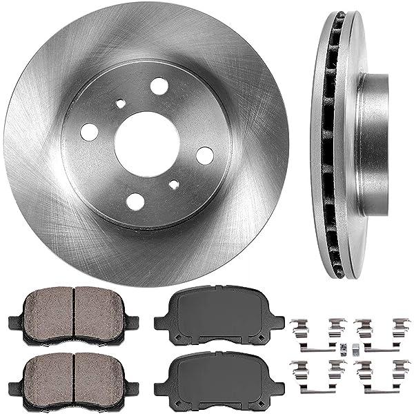 Front Disc Rotors /& Semi-Metallic Brake Pads Fits Chevrolet Toyota Corolla Prizm