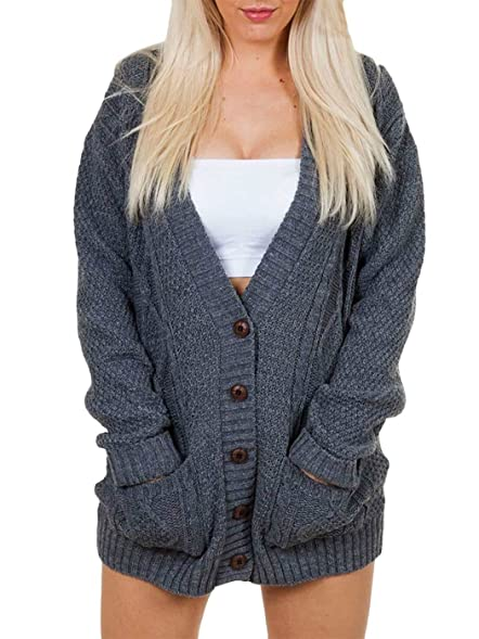 Love My Fashions® Cable Knit Boyfriend Cardigan Knitted Ladies Top ...