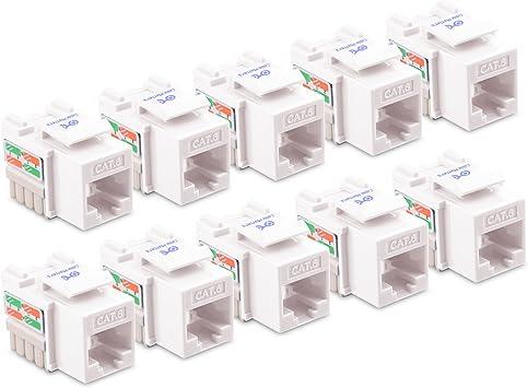 UL Listed Cable Matters 10-Pack Cat6 RJ45 Keystone Jack Cat 6 // Cat6 Keystone