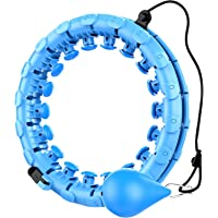 Smart Adjustable Hula Hoops with Massage Nut for Weight Loss, Fitness Ring for Adults 24 Knots Detachable, All-Round…