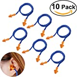 NUOLUX Reusable Ear Plugs Band Hearing Protection Soft 10 Pairs Blue