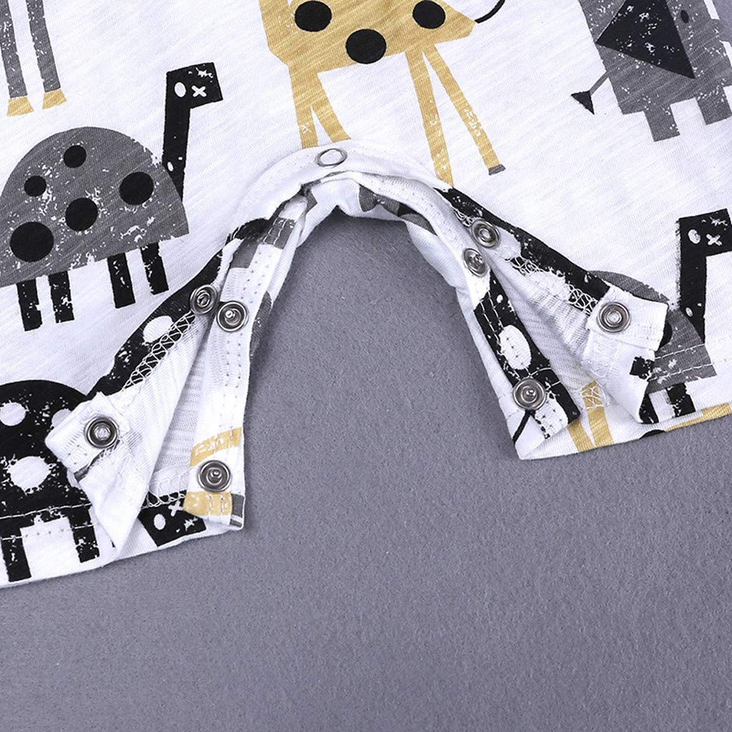 Neugeborenes Baby-Unisex Schlafsack Strampler Kleinkind Kinder Baby Jungen Cartoon Print Strampler Overall Outfit Kleidung Sommer ODRD M/ädchen Jungen Body Babyschlafsack Kleinkind Sommer