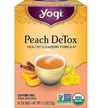 Yogi peach flavor with non-GMO verified detox tea