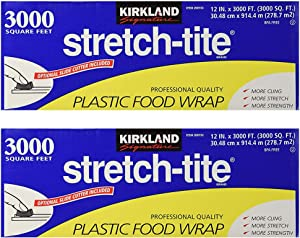 Kirkland Signature Stretch-Tite Plastic Food Wrap - Parent (6000 SQ. FT (2 Pack, 12