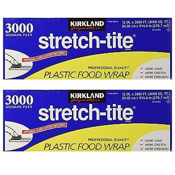 Food Storage Wraps Kirkland Signature Stretch-Tite Plastic Food Wrap