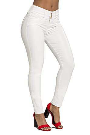 a17723375b Curvify White Faux Leather Pants | Mid Waist Butt Lifting Imitation Leather  Jeans Jeans Levanta Cola