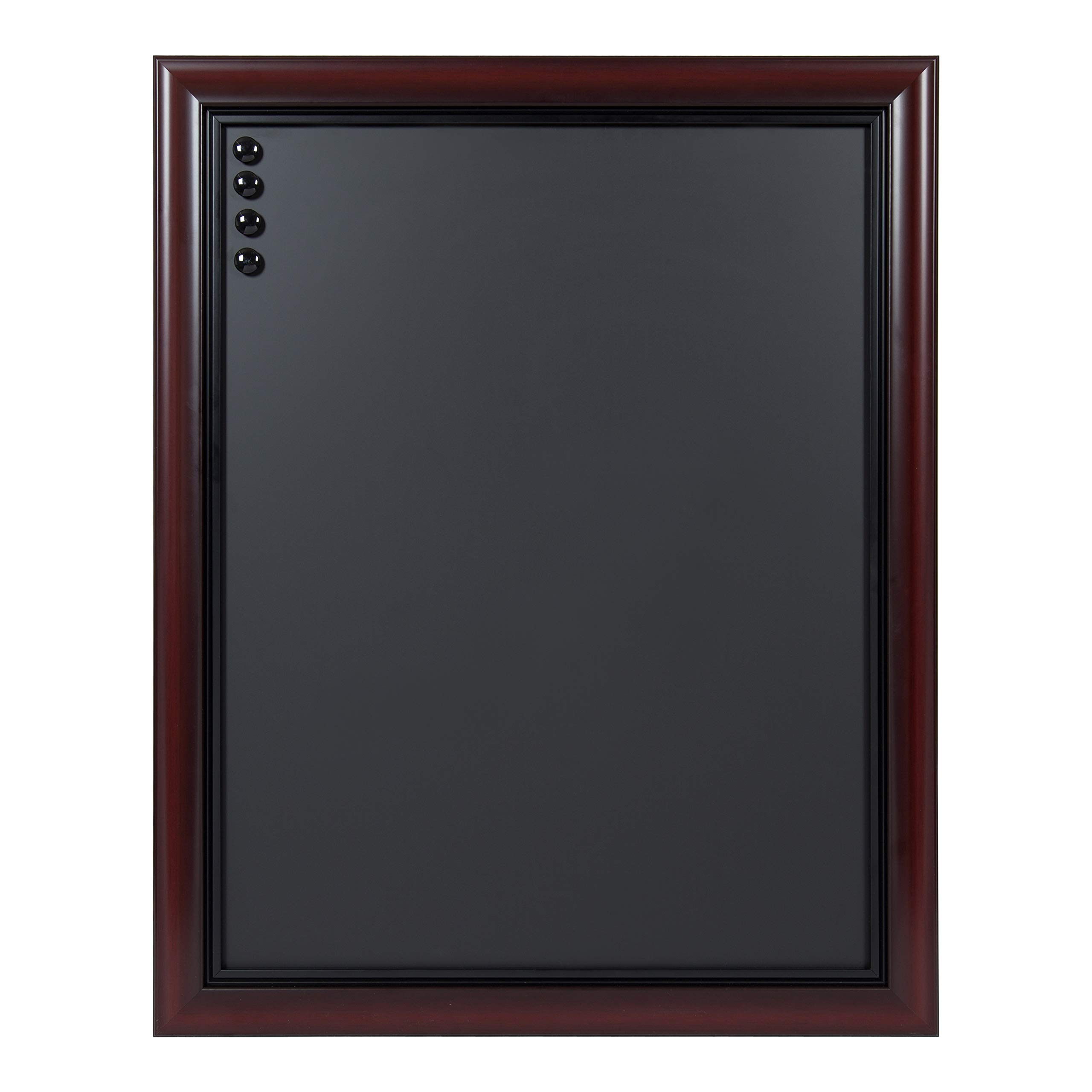 DesignOvation Dandridge Framed Magnetic Chalkboard, 24x30, Cherry by Kate and Laurel