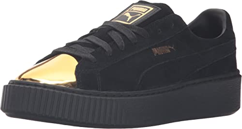 PUMA Women's Suede Platform Gold Fashion Sneaker
