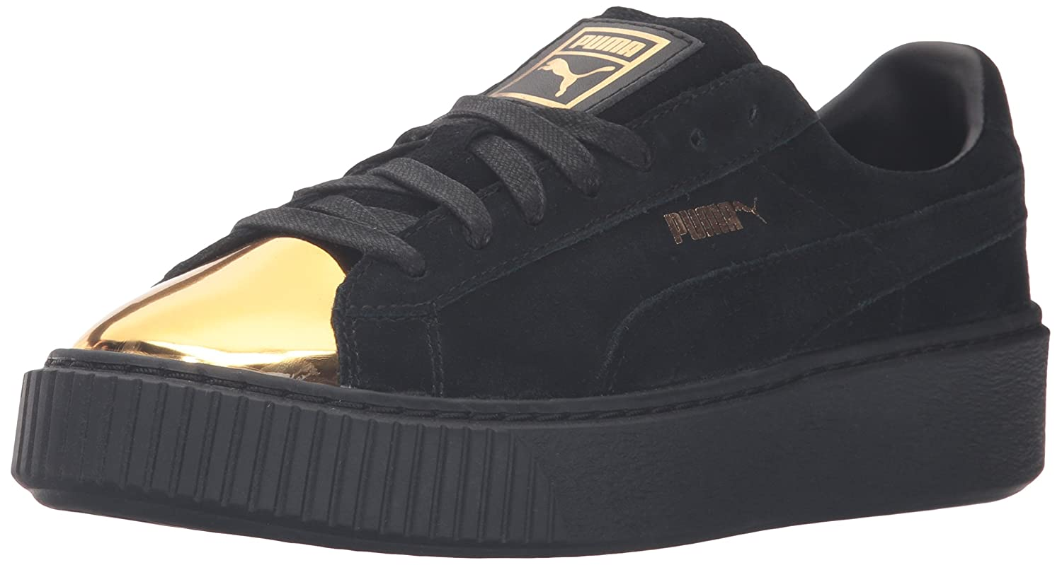 the latest b1d5b 1be59 PUMA Women's Suede Platform Gold Fashion Sneaker