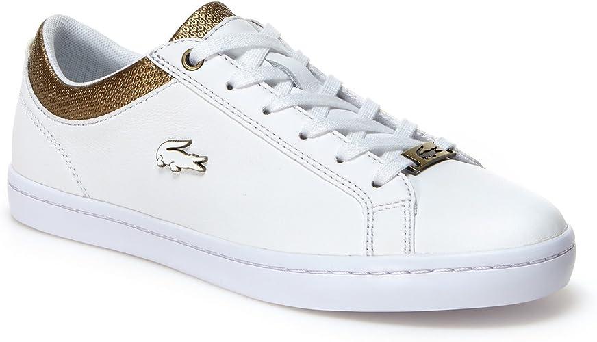 basket blanche et doré femme