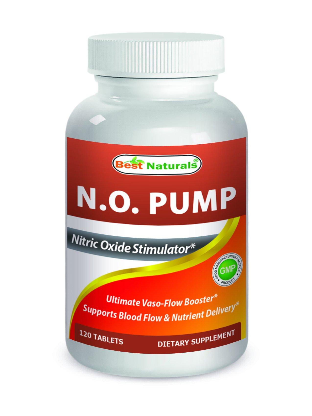 Best Naturals Nitric Oxide NO Pump 3000 mg per Serving 120 Tablets by Best Naturals