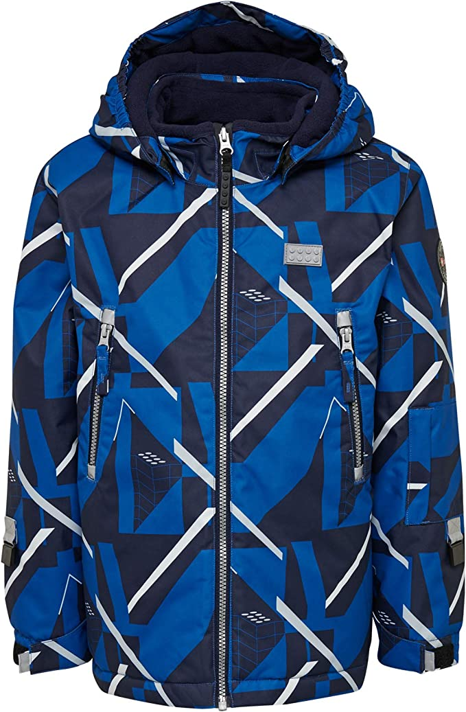 Lego Wear Boy's Lego Tec Play Lwjordan 722-Skijacke/winterjacke Jacket, Blue (Blue 553), 122,LEGO Wear,21415