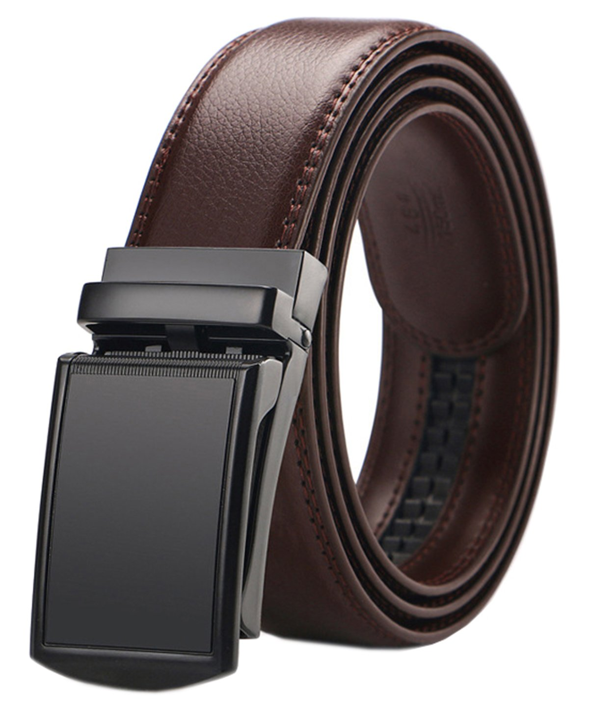 Mens Ratchet Slide Belts Leather Automatic Buckle gz01-pd