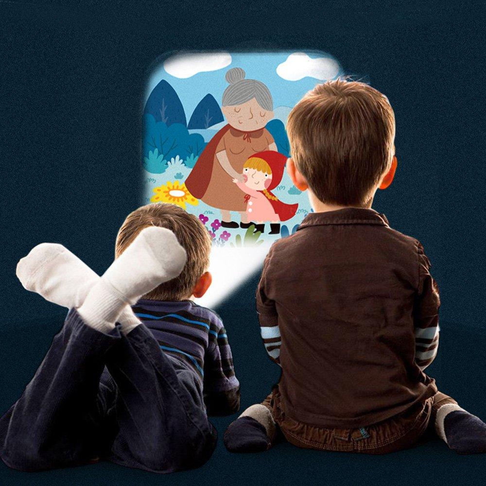 Proyector para ni/ños Libro de cuentos Antorcha Noche Luz Teatro Antorcha 4 Cuento de hadas Diapositiva 32 Ilustraci/ón Hora de dormir Historia Juguete /… Big