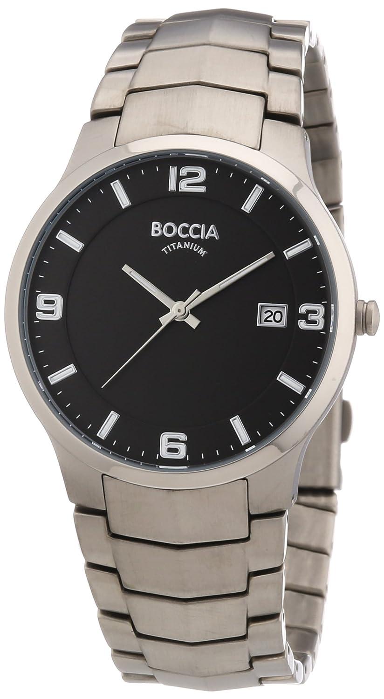 Boccia 3561-02 - Reloj analógico de cuarzo para hombre con correa de titanio, color plateado