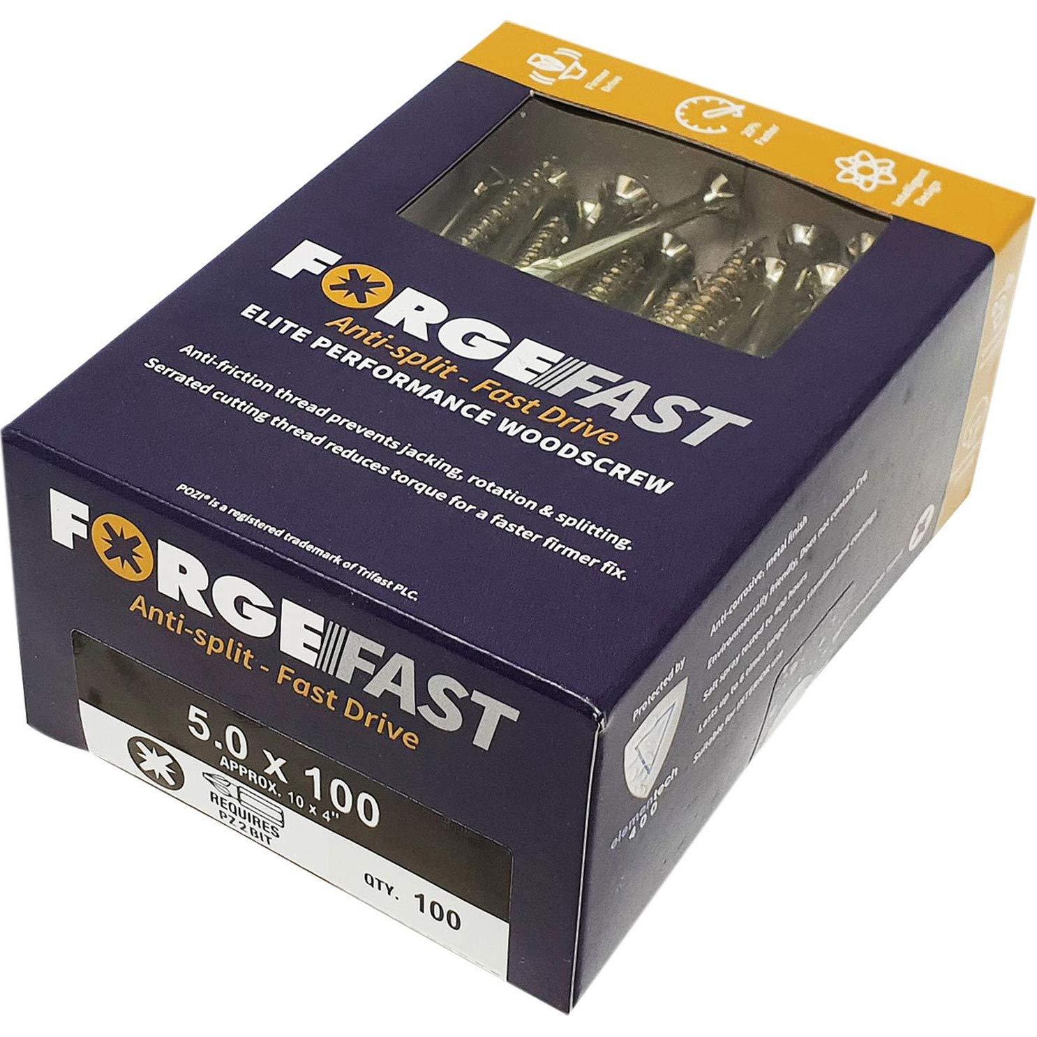 /Argent FORFFP6130Y Forgefix Forffp1000y Forgefast Pozi Compatible Elite Performance Vis /à bois Organiseur/ argent