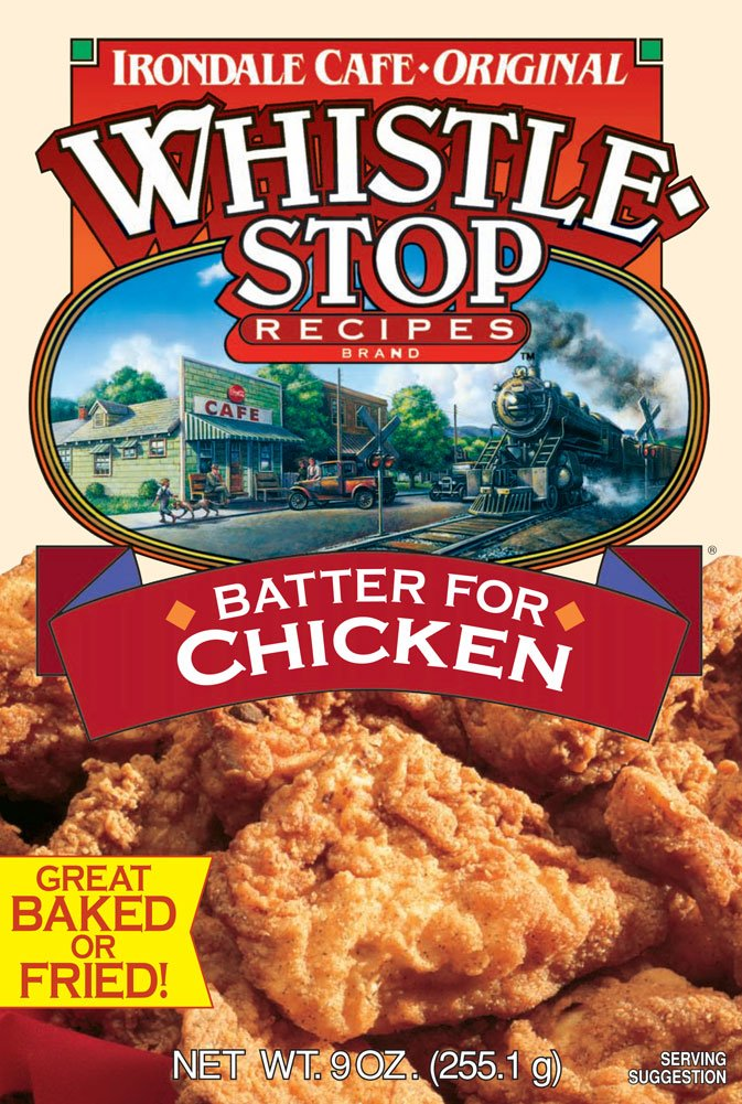 Original WhistleStop Cafe Recipes | Batter Mix for Chicken, Baked or Fried | 9-oz | Case of 6 by Irondale Cafe Original Whistle Stop Recipes (Image #2)