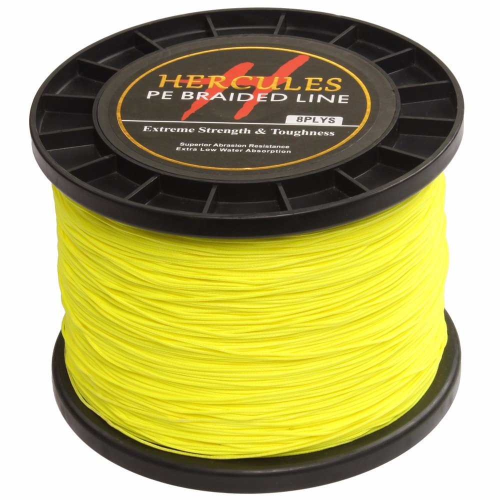HERCULES 1000m 1094yds Superline 10lbs-300lbs Pe Braided Fishing Line 8 Strands