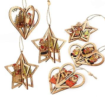 3d Weihnachtsbaum Deko Weihnachtsbaumschmuck Cubewit 6er