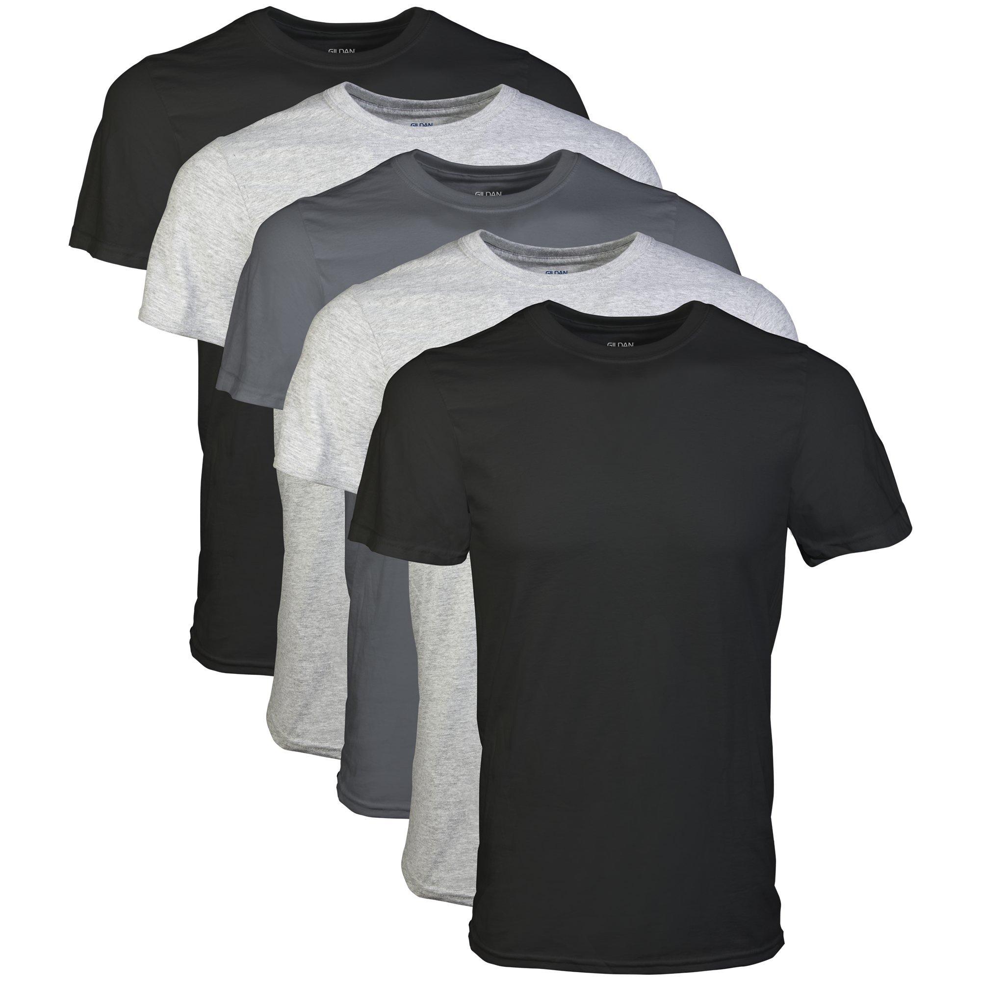 Gildan Men's Crew T-Shirt Multipack, Assorted 2XL (5 Pack), 2X-Large by Gildan