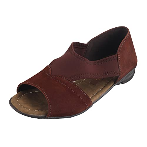 ac044e22856 METRO Women BROWN Velvet available at Amazon for Rs.1590