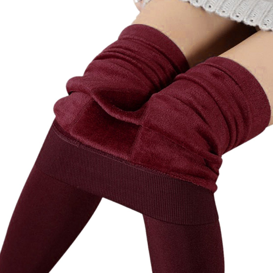 Bluestercool Women Winter Thick Warm Fleece Lined Thermal Stretchy Leggings, Ladies Velvet Stretchy Pants
