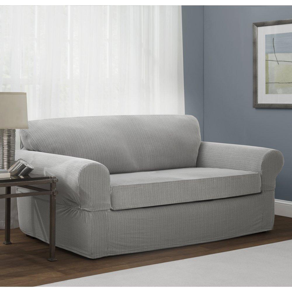 Maytex Connor Stretch 2-Piece Sofa Furniture Cover ...