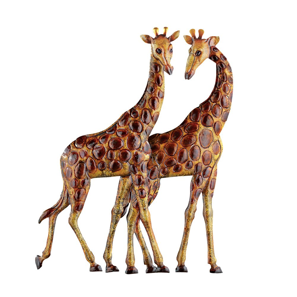 Collections Etc Giraffes Metal Wall Art 3D Safari African Décor for Living Room, Bedroom