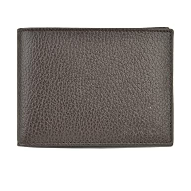 ec279d23f Mens Gucci Wallet 278596 Brown Leather Embossed Logo Trademark Bifold