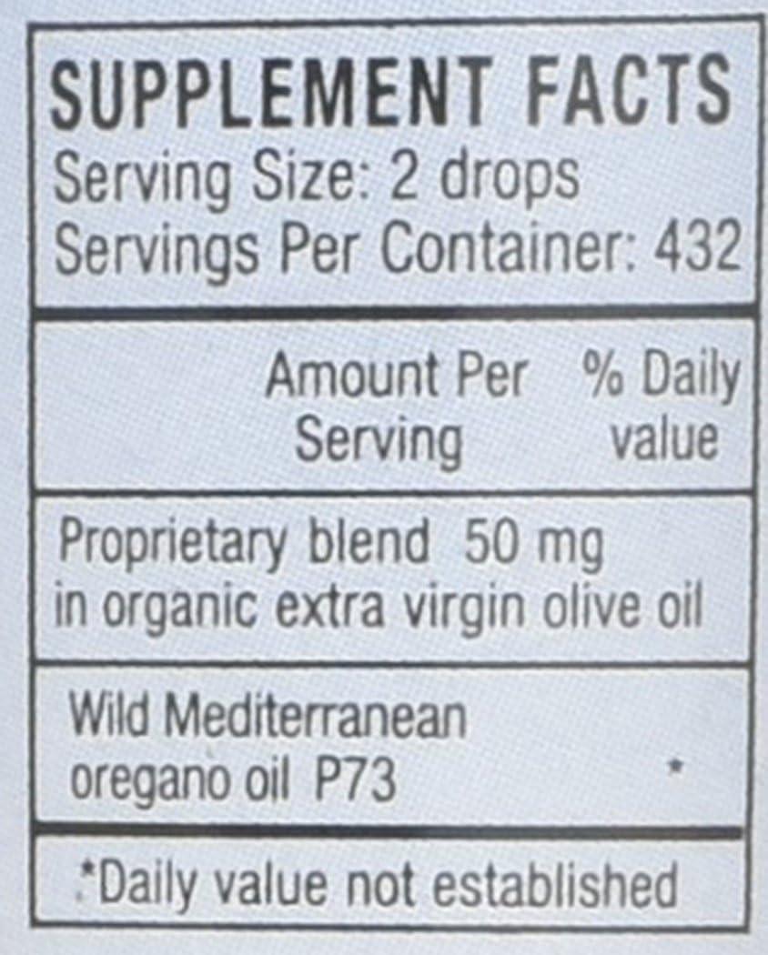 North American Herb & Spice Super Strength Oreganol P73 - 1 fl. oz. - Immune Support - Wild Mediterranean Oregano Oil - Non-GMO, Certified Organic - 432 Total Servings: Health & Personal Care