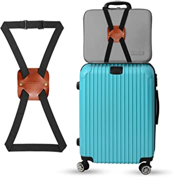 2 PCS Travel Bag Bungee Carry On Luggage Adjustable Suitcase Belt Add A Bag Strap Tie Together Elastic Travel Accessories
