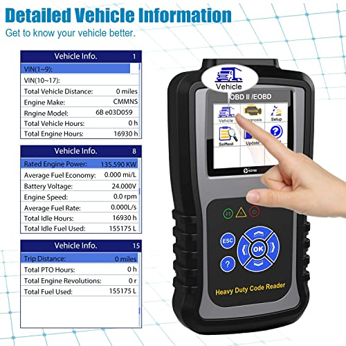 Kzyee KC601 can read and clear engine codes with the tap of a button.