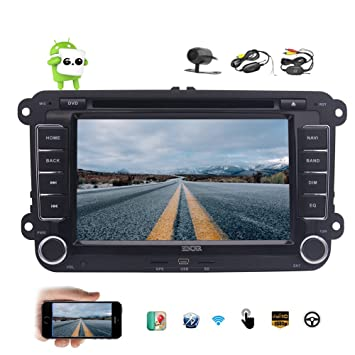 7 Doble DIN Android 6.0 Coches Reproductor de DVD GPS para VW Passat Golf