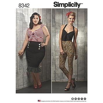 Simplicity Schnittmuster 8342   Misses \'/Damen-Tops, Hosen, Röcke 10 ...