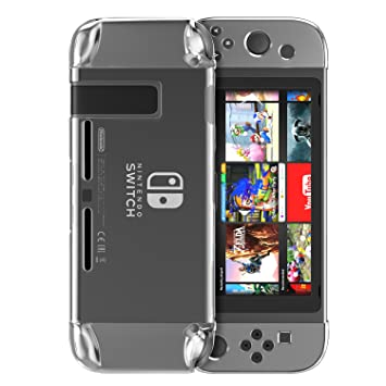 MoKo Carcasa para Nintendo Switch 2017, Nintendo Switch Funda Cubierta Transparente Dura, Amortiguación Antirrayas, Nintendo Switch Case para Nintendo ...