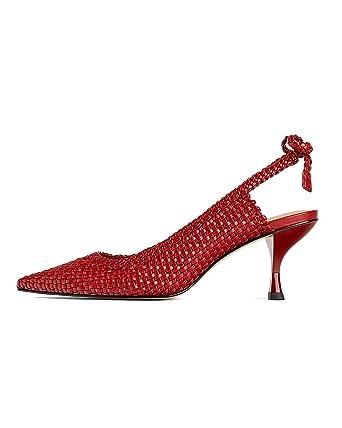 e1fa9fe37bf Amazon.com  Zara Women Braided high heel mules 1216 001  Clothing
