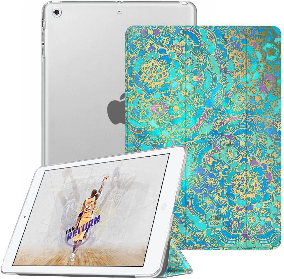 Fintie Case for iPad Mini 3/2 / 1 - Lightweight Smart Slim Shell Translucent Frosted Back Cover Protector Supports Auto Wake/Sleep for iPad Mini 1 / Mini 2 / Mini 3, Shades of Blue