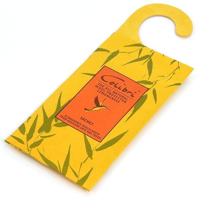 Hangerworld 2 Zitronengras Duftkissen zum Aufhängen Langzeit natürlicher Mottenschutz gegen Motten