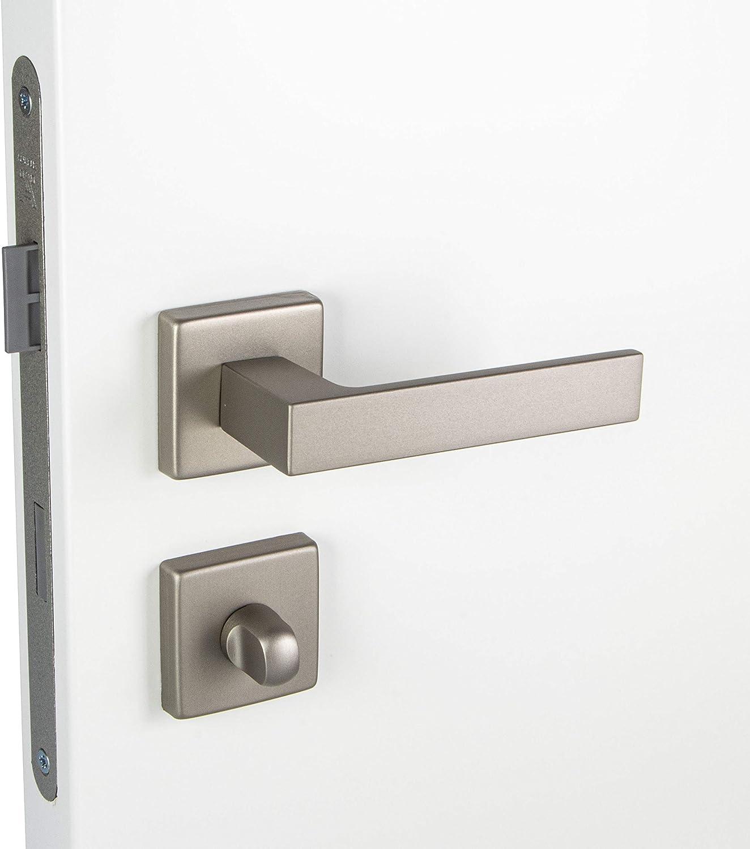 Gedotec PUSH 1317 Poign/ée de porte en aluminium avec mat/ériel de fixation Argent/é argent