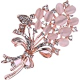 Rrimin Alloy and Diamond Brooch for Women