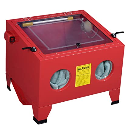 amazon com 25 gallon bench top sandblast cabinet air sand blaster rh amazon com redline mini benchtop sandblaster blast cabinet redline mini benchtop sandblaster blast cabinet
