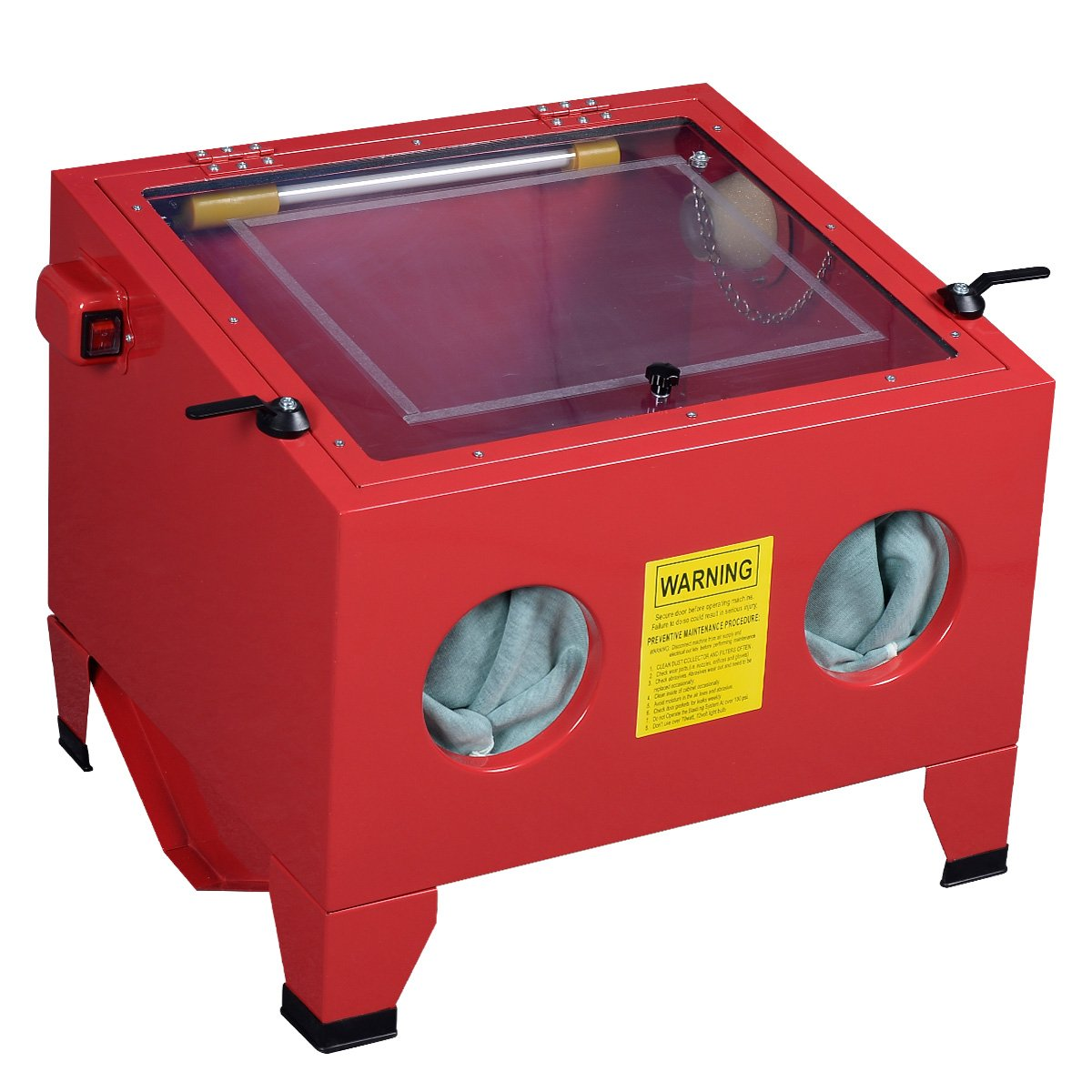 25 Gallon Bench Top Sandblast Cabinet Air Sand Blaster Sand Blast