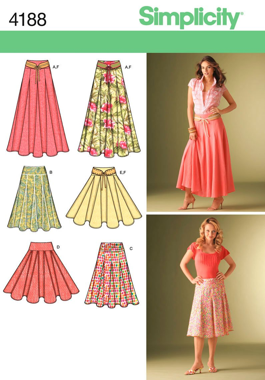 Simplicity Skirt Patterns Amazing Decorating Design