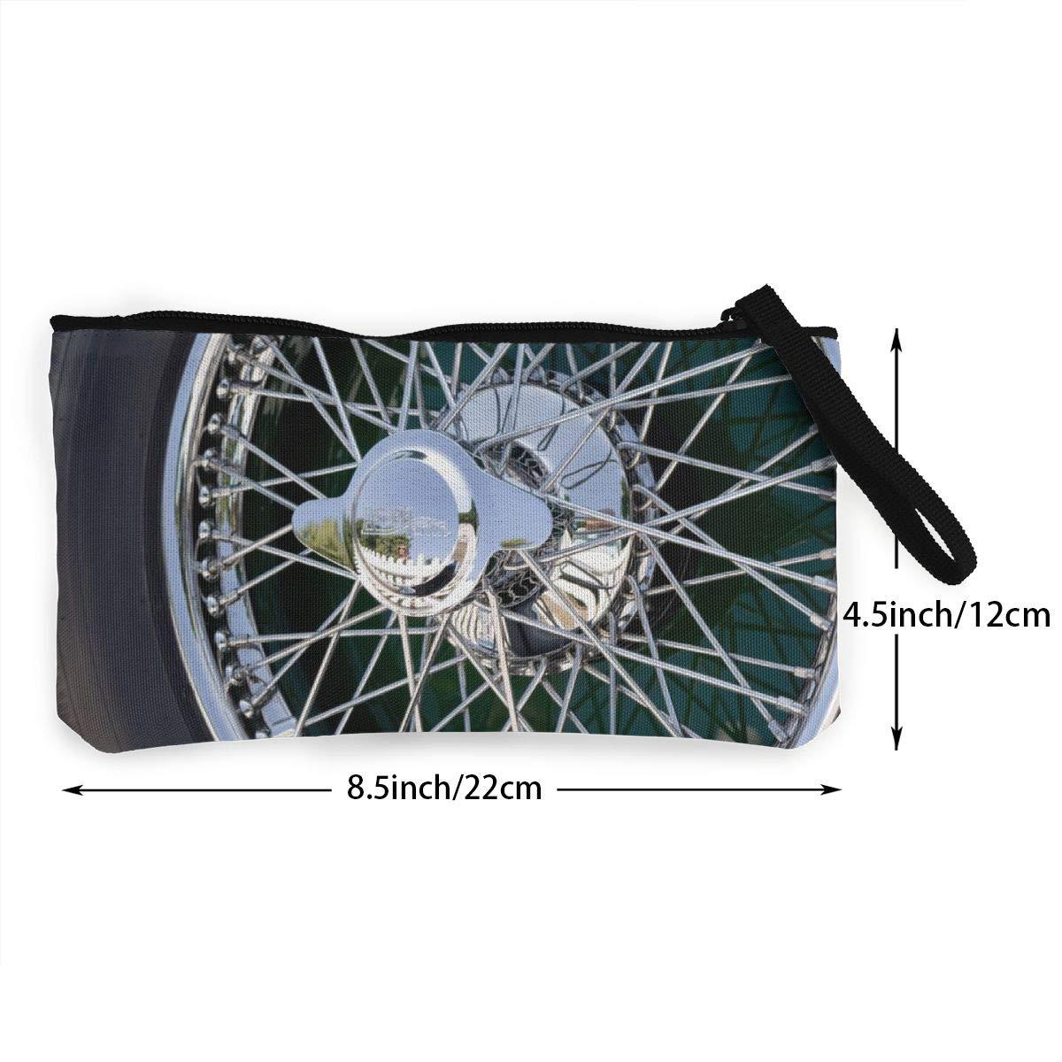 Car Wheel Zipper Canvas Coin Purse Wallet Make Up Bag,Cellphone Bag With Handle