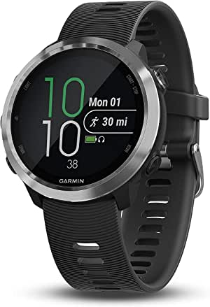 Garmin 010-01863-00 Forerunner 645, GPS Running Watch with Pay Contactless Payments and Wrist-Based Heart Rate, 1.2 inches, Black (Renewed)