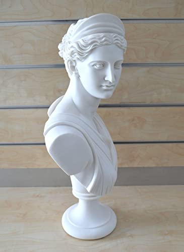 Estia Creations Artemis Sculpture Diana Bust Ancient Greek Goddess of Hunt Grand Statue