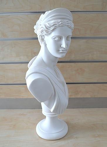 Estia Creations Artemis Sculpture Diana Bust Ancient Greek Goddess of Hunt Grand Statue