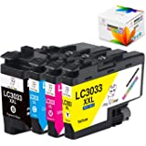 MS Deer Upgraded LC3033 Ink Cartridges, Replacement for Brother LC3033XXL LC3033 LC3035XXL LC3035 Work for Brother MFC-J995DW MFC-J805DW MFC-J815DW (1Black, 1Cyan, 1Magenta, 1Yellow) 4 Pack